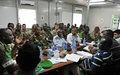 AU pre-benchmarking delegation meets AMISOM and Somalia military